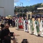 Inizio processione dal sagrato della chiesa di San Sisto